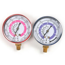Pair Air Conditioner R410A R134A R22 Refrigerant Low&High Pressure Gauge PSI KPA