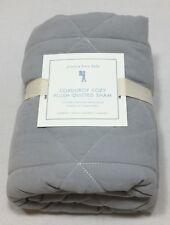 Pottery Barn Kids Set/2 Grey Corduroy Plush Standard Shams
