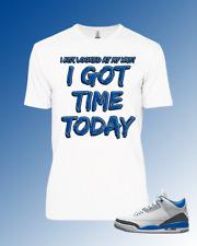 Tee to match Air Jordan 3 Racer Blue Time Today
