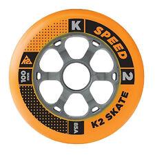 K2 Inliner Rollen Set 4 Stück 100mm 85A für Inline Skates Fitness Skates Skating