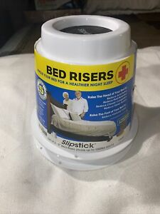 Vintage White Slipstick CB6526 Rare 5Inch BED Risers Set of 2 1000lb's Rating