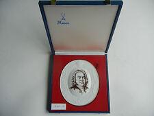 Meissen Medaillon Johann Sebastian Bach + Original-Schatulle (meine Pos. 6)