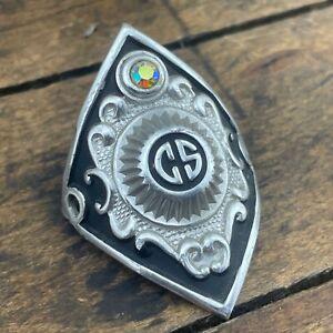 Vintage Headbadge Golden Sport Zebrakenko GS Head Badge Jewel No Screws