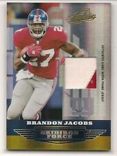 2008 Absolute Memorabilia Brandon Jacobs Gridiron Force Jersey Patch #/50!!