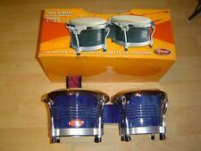 Stagg BW-300-BL, 7,5 Zoll + 8,5 Zoll, Latin BONGOS Holzkessel, Blau, NEU.