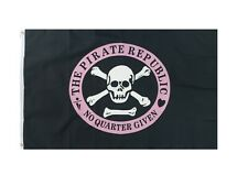 Pirate Republic Pirate Flag 3x5ft Boat Flag Jolly Roger Flag No Quarter Given