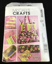 Pattern~McCall's Crafts~M5722~Satchel~Circular Knitting Needle Organizer~Pouch~