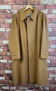 Aquascutum Of London Mens Wool Camel Trench Overcoat Size Large : J900