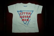 Guess Baby Boy Off White Print Cotton Round Neck T Shirt Tee Top 3 6 9 12 18 24