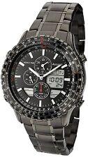 Accurist Reloj para hombre Cronógrafo Dial Negro Acero Inoxidable Pulsera MB1036BB PVP £ 350