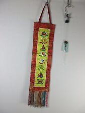 Original alter Thangka die 7 Glückszeichen Buddha Seide Brokat Tibet ~1960 92cm