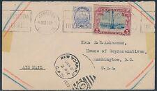 #C11 W/ BERMUDA STAMP ON COVER HAMILTON CNL WASHINGTON, DC DUAL FRANKING BT8684