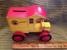 Ertl Metal Shop Rite Store Truck Bank Ford 1905 First Delivery Car Yellow & Red