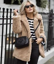 TOPSHOP SOLD OUT BLOGGERS FAVE CAMEL BORGE TEDDY FAUX FUR OVERSIZED LONG COAT 6