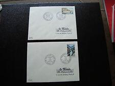 FRANCE-2 enveloppes 1er jour (le monde des philatelistes) 1965 (cy40)french