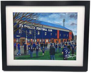Dundee F.C Dens Park Stadium High Quality Framed Art Print. Approx A4.