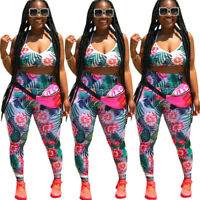 Women spaghetti strap floral print casual club vacation jumpsuit pants set 2pc