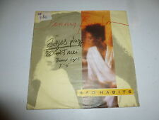"JENNY BURTON - Bad Habits - German 1985 2-track 7"" Juke Box Vinyl Single"