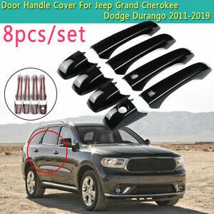 For Jeep Grand Cherokee Dodge Durango 2011-2019 Gloss Black Door Handle Cover
