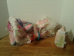 Motorcycle Diaper Cake Centerpiece Baby Shower Gift Girl Pink