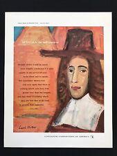 MID CENTURY MODERN ART DESIGN CCA Great Ideas SPINOZA Lithograph Laszlo Meitner