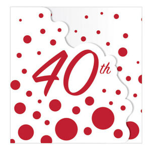 8 x Ruby Wedding Party Invitation Cards 40th Anniversary Birthday Invites