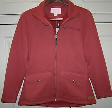 NEW Filson Womens  Small 4 6 Moleskin Fleece Barn Red Jacket Coat Full Zip