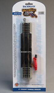 """BACHMANN HO E-Z TRACK 9"""" STRAIGHT TERMINAL RERAILER GRAY nickel silver BAC44510"""