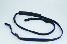 Vintage Minolta Black & Blue Camera SLR DSLR Shoulder Strap