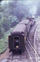 Railroad Steam Locomotive Passenger Train Original 1974 Photo Slide