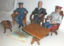 Churchill, Roosevelt & Stalin en Yalta Maison Militaire Modelos De Metal