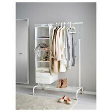 Garderobenständer Rollständer Kleiderständer Weiß Schrank Garderobe