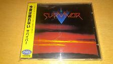 Survivor - Too Hot To Sleep * Japan Signed CD w/OBI * Jim Peterik, Jimi Jamison