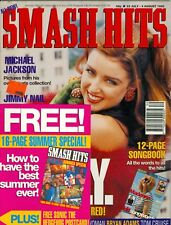 Dannii Minogue cover Smash Hits magazine with Madonna 2 page color photo 1992