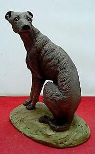 North Light Dog Figurine Scottish Deerhound or Lurcher Large Seated Resin 1982