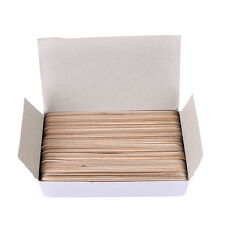 1box 6 Inch Wood Tongue Depressor Large Wooden Waxing Spatula Wax Stick Craft DS