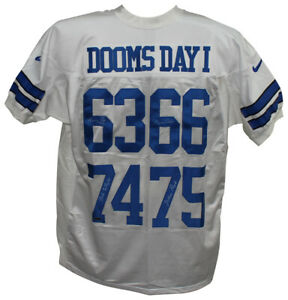 Doomsday 1 Defense Signed Dallas Cowboys Nike White Jersey 4 Sigs Tristar 33604