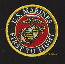 FIRST TO FIGHT US MARINES HAT PATCH WORLD WAR 2 VIETNAM OEF OIF PIN UP VET GIFT