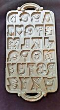 VINTAGE CAST IRON MOLD JOHN WRIGHT CO. ALPHABET COOKIE BAKEWARE 1985