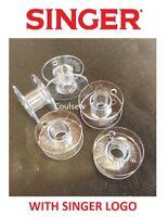 5 GENUINE SINGER PLASTIC SEWING MACHINE BOBBINS PROMISE TRADITION TALENT 15J +