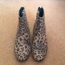 Miss KG leopard print ankle boots BNWB size 5