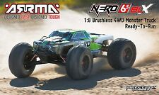 ARRMA 1:8 NERO 6S BLX Brushless 4WD Monster Truck RTR, Green ARAARAD70**
