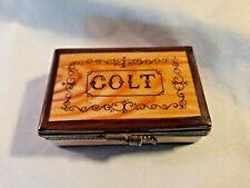 Limoges Miniature Colt Revolver Gun Box