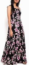 People Womens Garden Party Black Floral Print Maxi Dress S BHFO 3394