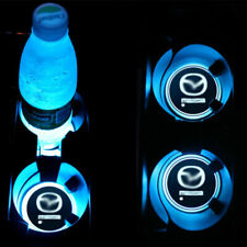 2PCS LED Car Cup Holder Pad Mats For Mazda Car Auto Atmosphere Lights Colorful