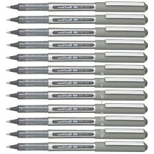 12 x UNI BALL EYE FINE ROLLERBALL 0.7mm PEN UB157 * Black * Cheapest in Ebay