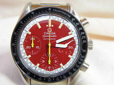 Omega Speedmaster Michael Schumacher Automatic-Chronograph rot mit Box läuft gut