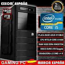 Ordenador Gaming Pc Intel Core i5 6400 6ª GEN 16GB DDR4 2TB HDMI De Sobremesa