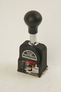 Bates Royall Numbering Machine RNM7A-7 Seven Digit RARE NEW