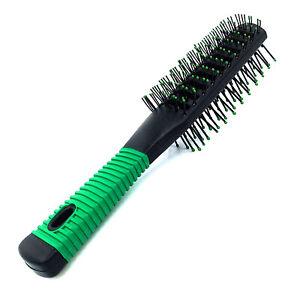 Black Green Vented Dual Sided Tunnel Hairdryer Hair Brush Salon Spa Hairdresser